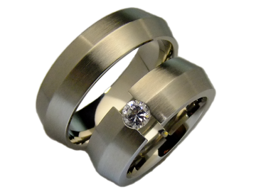 Modell Barbra - 2 Ringe aus Edelstahl