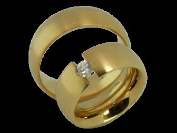 Modell Mia - 2 Ringe aus Edelstahl