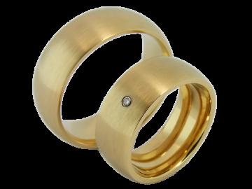 Model Mia - 2 rings stainless steel