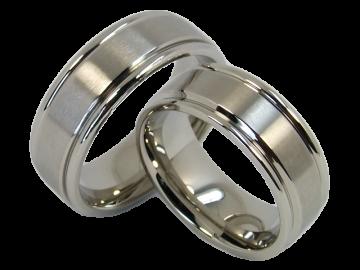 Modell Romy - 2 Ringe aus Edelstahl