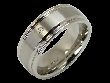 Modell Romy - 1 Diamantring aus Edelstahl