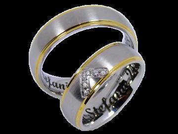 Modell Juliette - 2 Ringe aus Edelstahl