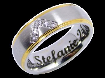 Modell Juliette - 1 Ring aus Edelstahl