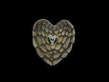 Anhänger Herz auf Engelsflügeln 925er Sterling-Silber