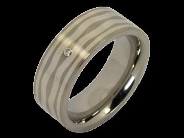 Modell Helen - 1 Ring aus Edelstahl & Silber
