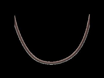 Lederkette dunkelbraun 45 cm