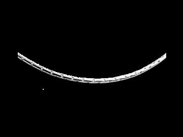 Haferkornkette 50 cm aus 925er Sterling-Silber