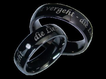 Modell Theresa - 2 Ringe aus Edelstahl