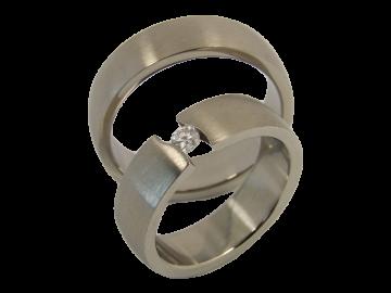 Modell Lilly - 2 Ringe aus Edelstahl