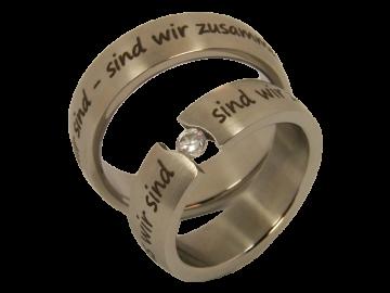 Modell Lara - 2 Ringe aus Edelstahl