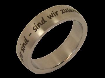 Modell Lara - 1 Ring aus Edelstahl