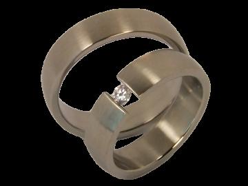 Modell Felix - 2 Ringe aus Edelstahl
