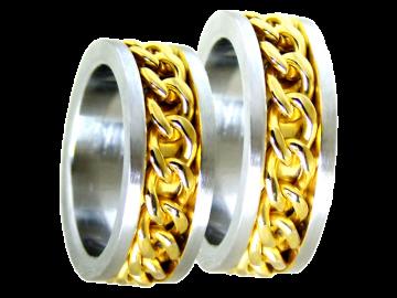 Modell Michael - 2 Ringe aus Edelstahl