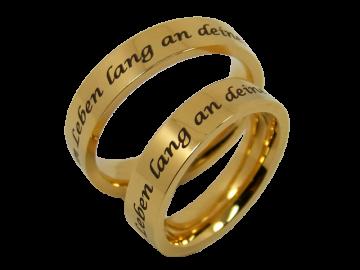 Modell Vanessa - 2 Ringe aus Edelstahl