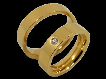 Modell Bill - 2 Ringe aus Edelstahl