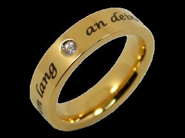 Modell Vanessa - 1 Ring aus Edelstahl