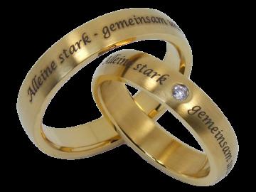 Modell William - 2 Ringe aus Edelstahl