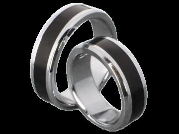 Modell Bonnie -  2 Ringe aus Edelstahl