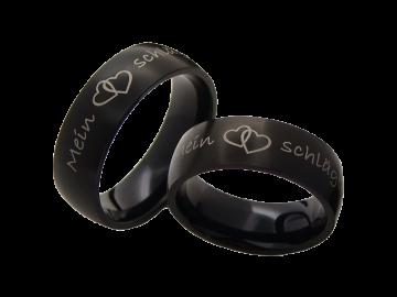 Modell Rebecca - 2 Ringe aus Edelstahl