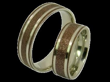 Modell Freya - 2 Ringe aus Edelstahl
