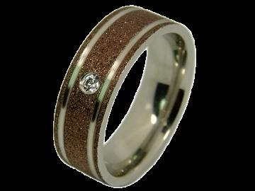 Modell Freya - 1 Ring aus Edelstahl