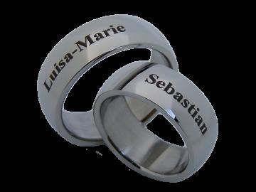 Modell Ursel - 2 Ringe aus Edelstahl