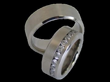 Modell Pauletta - 2 Ringe aus Edelstahl