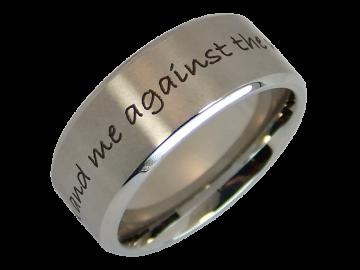 Modell Moritz - 1 Ring aus Edelstahl