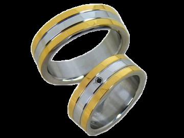 Modell Reese - 2 Ringe aus Edelstahl