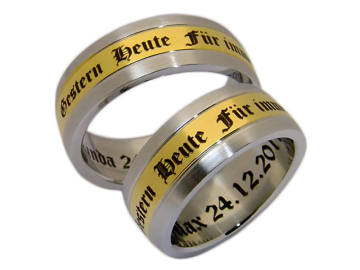 Modell Annette - 2 Ringe aus Edelstahl
