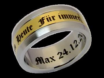 Modell Annette - 1 Ring aus Edelstahl