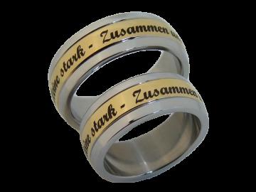 Modell Karl - 2 Ringe aus Edelstahl