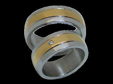 Modell Justin - 2 Ringe aus Edelstahl