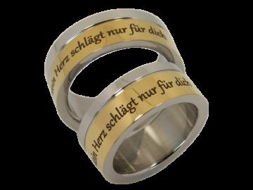 Modell Amadeus - 2 Ringe aus Edelstahl