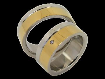 Modell Marie - 2 Ringe aus Edelstahl