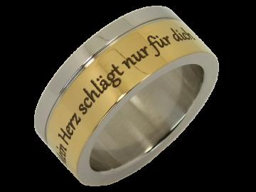 Modell Amadeus - 1 Ring aus Edelstahl