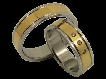 Modell Mathis - 2 Ringe aus Edelstahl