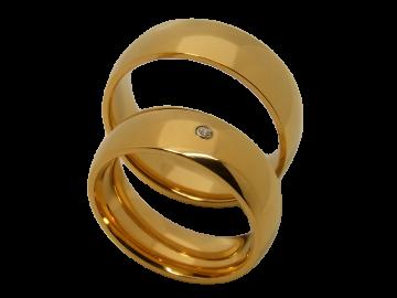 Modell Brooke - 2 Ringe aus Edelstahl