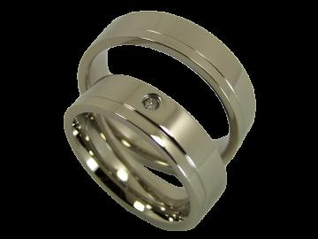 Modell Angelina - 2 Ringe aus Edelstahl