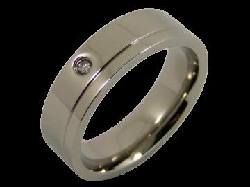 Modell Angelina - 1 Ring aus Edelstahl