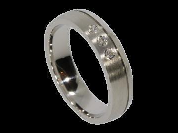 Modell Tassilo - 1 schmaler Ring aus Silber