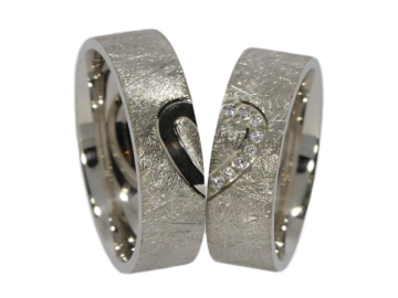 Model Elliot - 2 wedding rings made of 925 silver