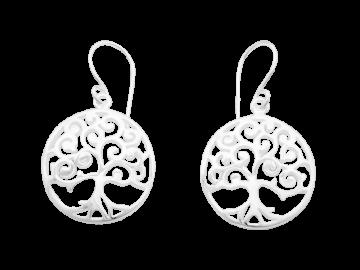 Ohrhänger Lebensbaum aus 925er Sterling-Silber