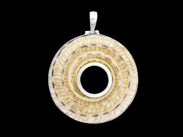 Anhänger Spiral brown aus 925er Sterling-Silber
