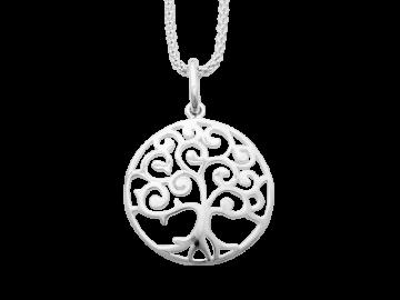 Anhänger Lebensbaum aus 925er Sterling-Silber