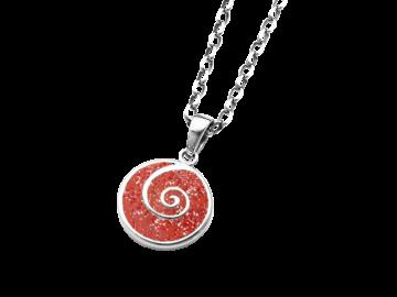 Anhänger Koralle & Spirale aus 925er Sterling-Silber