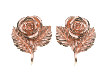 Ohrclipstecker Rose Silber in 3 Farben