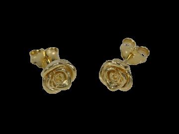 Ohrstecker Rose Silber wählbar in 4 Farben