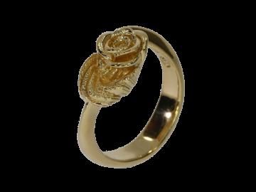 Ring Rosenblüte 925er Silber in 4 Farben