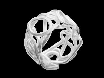 Modell Perlennest - 1 Ring aus 925er Silber